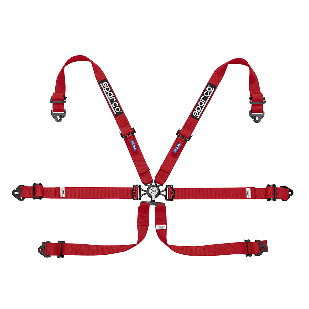 "Sparco 6-Point 3"" PD Aluminum Racing Harness (04818RALPD)"