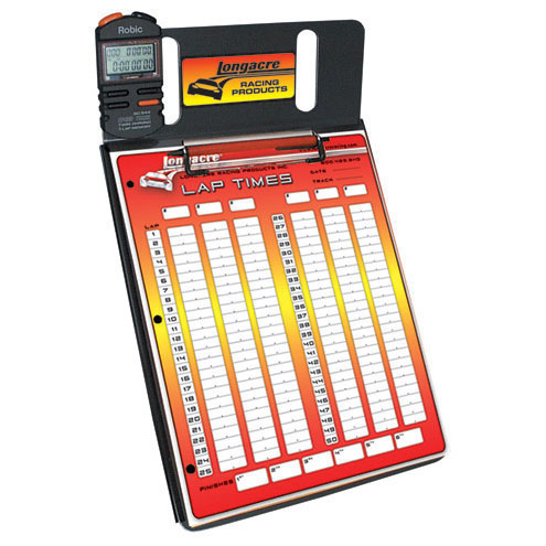 Longacre 1 Car Stopwatch Clipboard w/ Robic™ SC 554