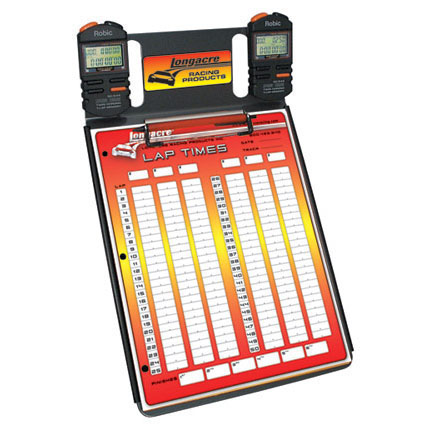 Longacre 2 Car Stopwatch Clipboard w/ Robic™ SC 554