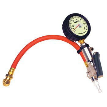 Longacre Quick Fill Tire Gauge 0-60 psi with Ball Chuck