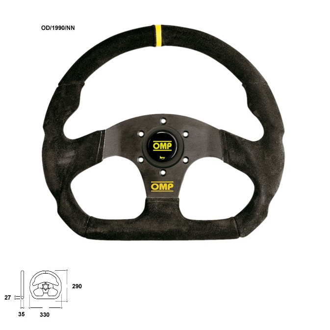 OMP Super Quadro Steering Wheel